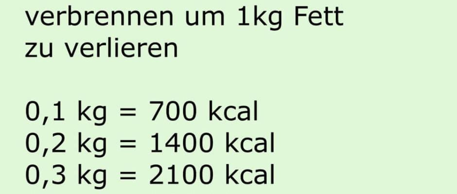 Sind 7000 kcal wirklich ein Kilo Fett ?